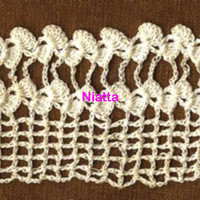 32' crochet lace, vintage white lace, handmade trim, border crochet lace thread crochet edging fine thread crochet embellishment egst Niatta