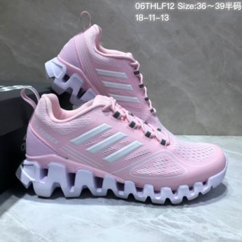 AUGUAU A483 Adidas Terrex High Frequency Breathable TPU Vamp Running Shoes Pink White