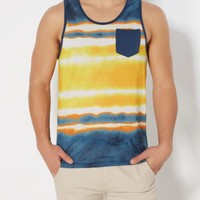 Yellow Tie Dyed Pocket Tank Top | Tanks | rue21