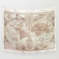 An Accurate Map Wall Tapestry by Catherine Holcombe