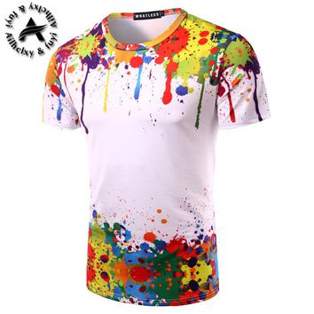 Newest galaxy space printed creative t shirt 3d men's tshirt summer novelty 3D feminina psychedelic tee shirts clothes