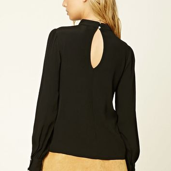Contemporary Keyhole Blouse