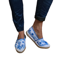 Hand painted talavera Espadrilles baroque, bohemian, ethnic, Mexican hand-painted shoes, shoes mexico talavera