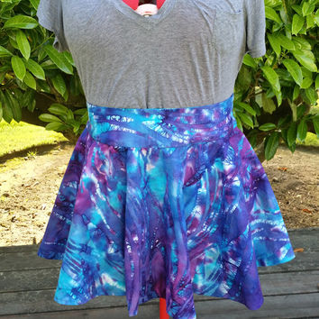 Purple/Blue Batik Circle Skirt