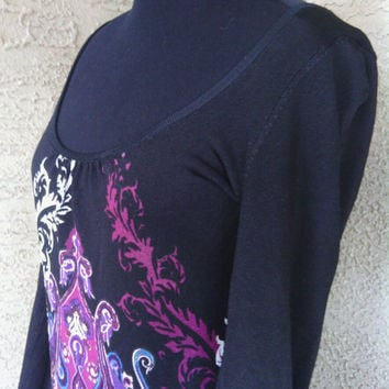 Bebe dress mod clubwear short medium long sleeves spandex sexy black hippie purple design mod boho hippe scoop neck vintage 90's