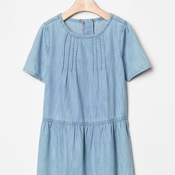 Gap Girls Chambray Drop Waist Dress