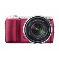 Sony Alpha NEX-C3 16 MP Compact Interchangeable Lens Digital Camera Kit with 18-55mm Zoom Lens (Pink)