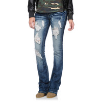1822c6562b5 Almost Famous Freya Destressed Medium Wash Bootcut Jeans at Zumiez   PDP