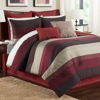 Hudson Comforter Set in Red