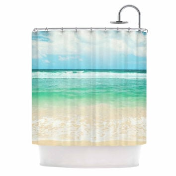 "Sylvia Cook ""Endless Sea"" Coastal Blue Shower Curtain"
