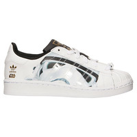 Boys' Grade School adidas Superstar RT Star Wars Storm Trooper Casual Shoes