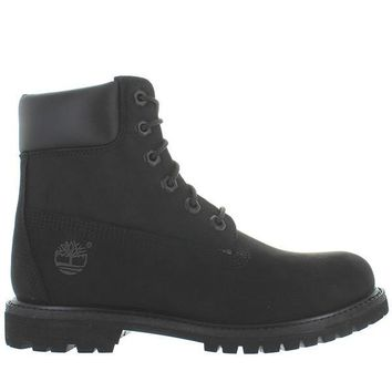 "Timberland Earthkeepers 6"" Premium - Black Nubuck Classic Lace-Up Boot"