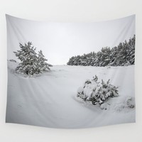 """Sierra Nevada"" . Into the woods. BW Wall Tapestry by Guido Montañés"