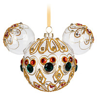 Mickey Mouse Icon Glass Ornament - Bejeweled | Disney Store