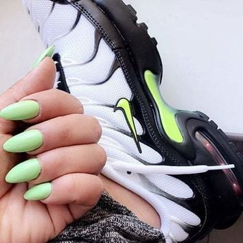 Nike Air Max Plus Air-permeable weaving stitching air cushion shock-relief Retro Running Shoes