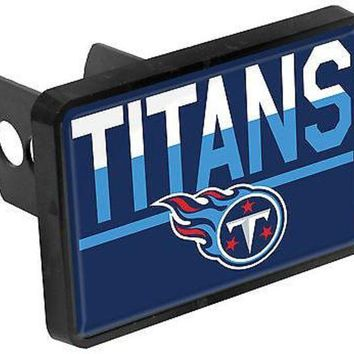 ESBONC. Tennessee Titans Color Duo Tone Universal HITCH Bumper Trailer Cover Football