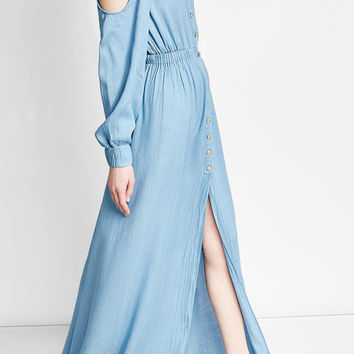 Maxi Dress with Cut-Out Shoulders - Balmain | WOMEN | US STYLEBOP.COM