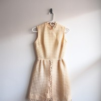 Ruth Norman for Gay Gibson 50s Eggnog White Cream Lace Christmas Dress