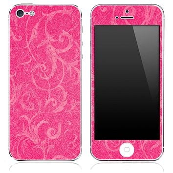 Subtle Pink Laced Pattern Skin for the iPhone 3, 4/4s or 5