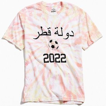Altru Apparel Qatar 2020 Tie-Dyed Tee | Urban Outfitters