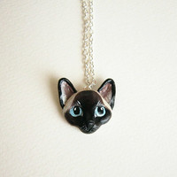 Siamese jewelry, Siamese cat necklace