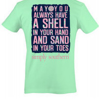 Simply Southern Shell and Sand Tee - Green