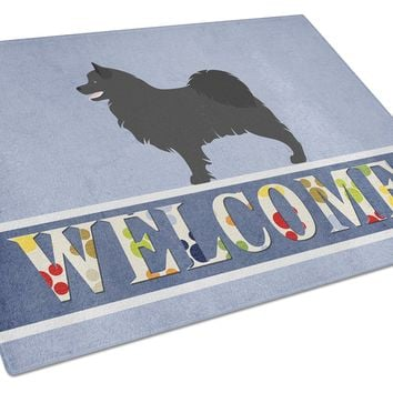 Swedish Lapphund Welcome Glass Cutting Board Large BB8347LCB