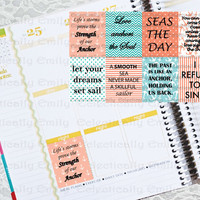8 Classic Coastal Weekly Squares Stickers Sheets | Nautical | Erin Condren Planner | Filofax | Planner | Journal