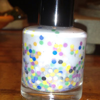 Candy Crush  Handmade White Nail Polish With by Backwoodsnails