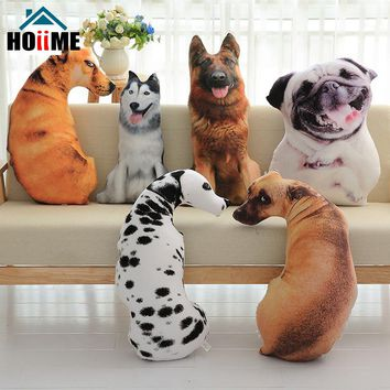 Hoiime Creative Dog Pillow For Home Art Decorative Simulation Animals Cushion With Inner Fabric Emulational Dog Toys Gift
