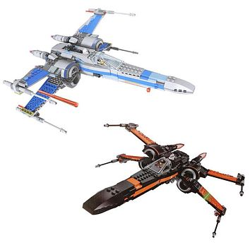 High Quality building bricks 05004 Star Plan Wars First Order Poe's X Fighter Wing Building Blocks Toys Compatible 75149 75102