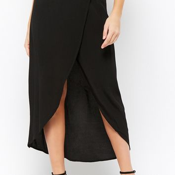 High-Low Wrap Skirt