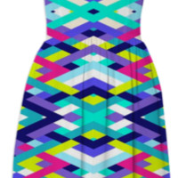Smart Diagonals Pink created by House of Jennifer | Print All Over Me