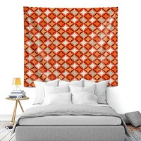 DiaNoche Wall Tapestry by Julia Grifol Circles Red