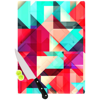 "Danny Ivan ""Still New"" Red Pink Cutting Board"