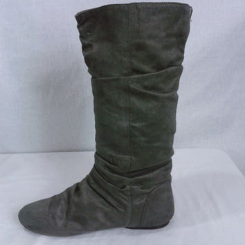 17314 Maurices Faux Suede Slouched Tall Boots Size 8.5