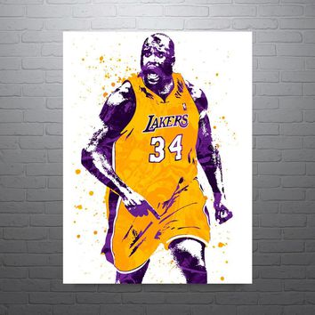 Shaquille O'Neal Los Angeles Lakers Shaq Poster
