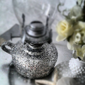 Xmas in July Sale Glitter Oil Lamp Lighting, Home Accent, Wedding Centerpiece, Reception Table Idea