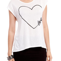 Heart Love Sketch Graphic Top