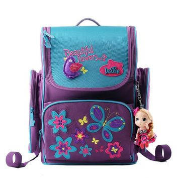 Brand kids cartoon backpacks school backpack children orthopedic school supplies school bags for girls kids backpack girls