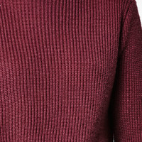 Lisakai Ribbed Stitch Cropped Pullover Sweater at PacSun.com
