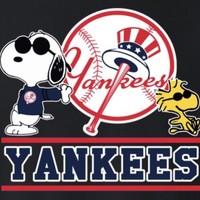 (3) NY New York Yankees Snoopy 3x2.75 Vinyl Stickers Car Window Decal