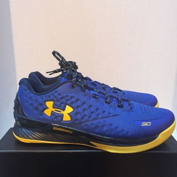 Under Armour Steph Curry 1 Low Team Royal Taxi Warriors 1269048 400 DEADSTCOK