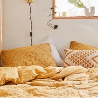 Petal Embroidered Gauze Duvet Cover | Urban Outfitters
