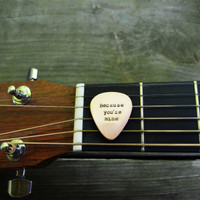 I Walk the Line Guitar Pick - Johnny Cash - Romantic - Copper - Country - Valentine's Day - Guys Gift - Under 25 - For Him - Music