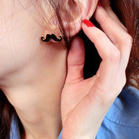 Pair of Mustache Earrings