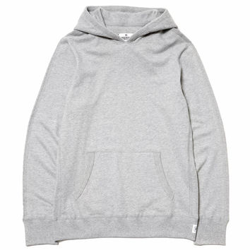 Lightweight Terry Thermal Knit Hybrid Pullover Hoodie H.Gray