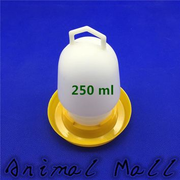 250 ML Quail Drinking Cups Chicken Birds Pheasant Feeders Waterer Automatic drinking tool Farm Tools Pigeon Waterers