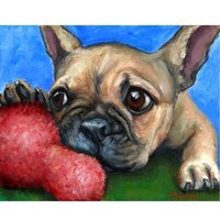 French Bulldog Puppy Dog Art 8x10 Print, Painted by Dottie Dracos | LarkStudios - Print on ArtFire
