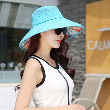Asy Top Fashion Summer Floral Beach Bucket Hat Women Blue Cap Quickly Dry Chapeau Foldable Bape Gorro Panama City Women Sun Hats